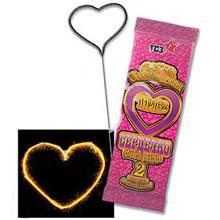 Бенгальская свеча - сердечко (2 шт, 18 см)