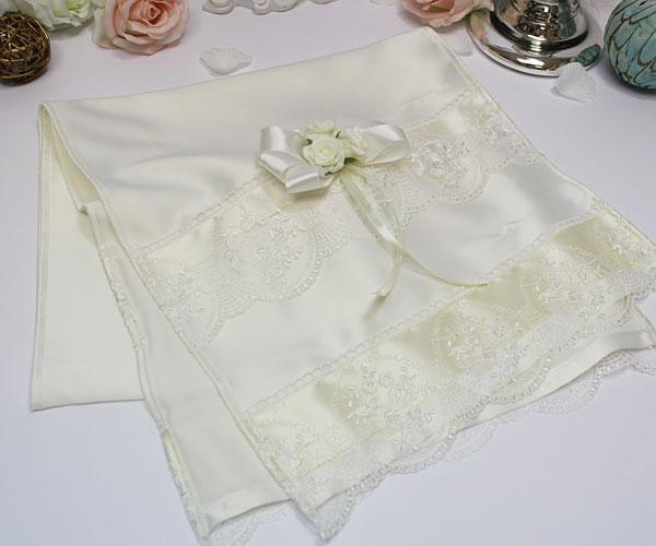 Свадебный рушник Розанна (айвори)