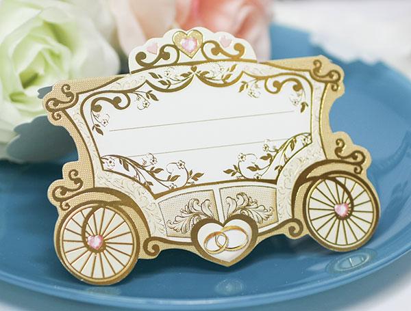 """Банкетная карточка """"Сказочная свадьба"""""""