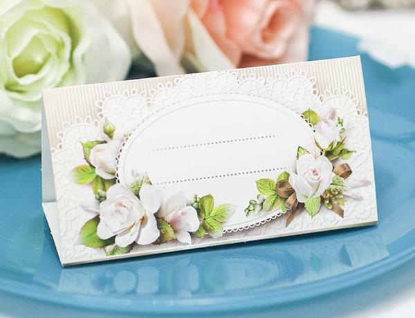 """Рассадочные карточки для гостей  """"Старинные розы"""""""