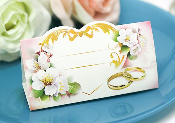 """Банкетная карточка для гостей """"Сердечные узы"""""""