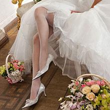 Свадебные колготки Charmante LOVE (сеточка)