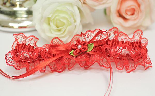 Подвязка для невесты Алиса (красный)