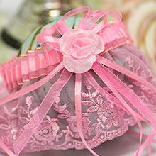 Свадебная подвязка для невесты Розалинда (розовый)