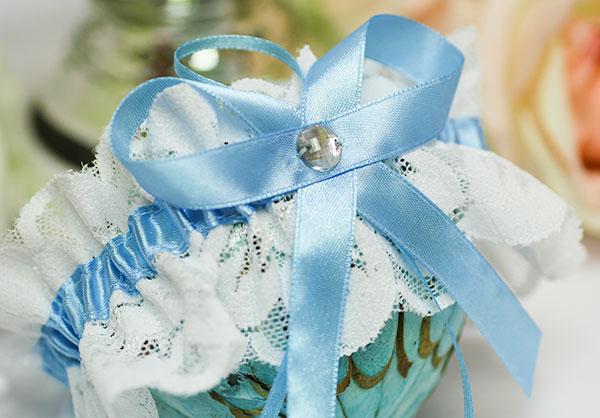 Подвязка для невесты Медея (голубой)
