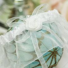 Подвязка невесты Маргарита (белый)