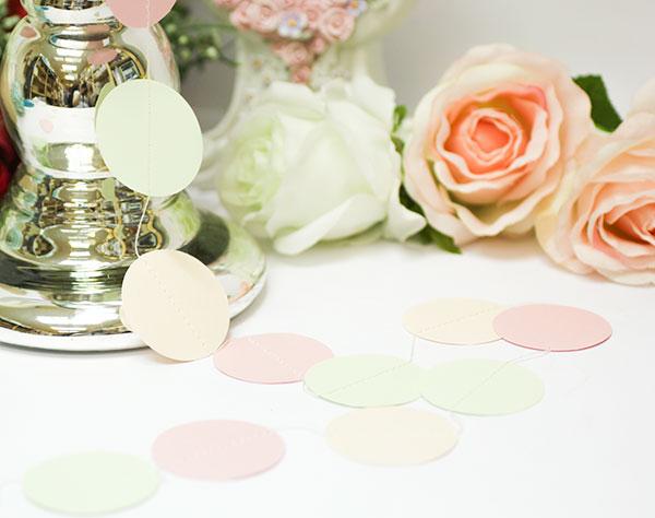 Свадебная гирлянда Dots (2 метра) (персик/розовый/мятный)