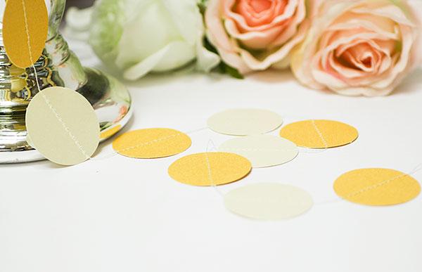 Свадебная гирлянда Dots (2 метра) (айвори/золото)