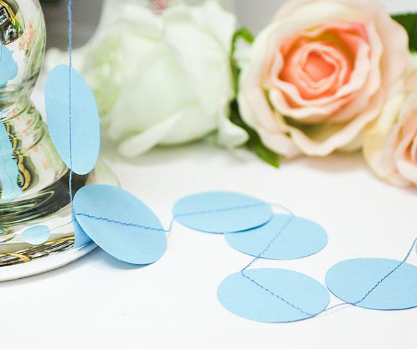 Свадебная гирлянда Dots (2 метра) (голубой)
