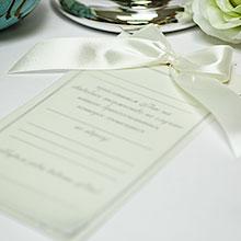 Приглашение на свадьбу ручной работы Paradise (айвори)