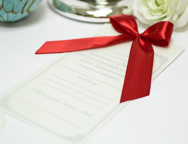 Приглашение на свадьбу ручной работы Paradise (красный)