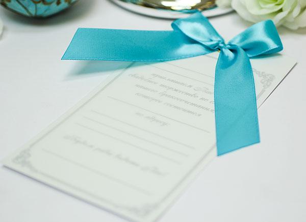Приглашение на свадьбу ручной работы Paradise (бирюзовый)