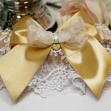 Свадебная подвязка Золотое сердце