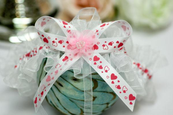 Подвязка невесты Кокетка (розовый)