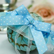 """Голубая подвязка для невесты """"Седьмое небо"""""""