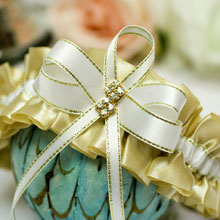 Подвязка свадебная Мерцание золота