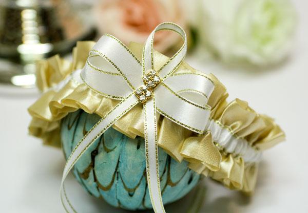 """Подвязка свадебная """"Мерцание золота"""" (золотой)"""