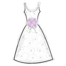 Большой фольгированный шар - платье невесты (91х61 см)