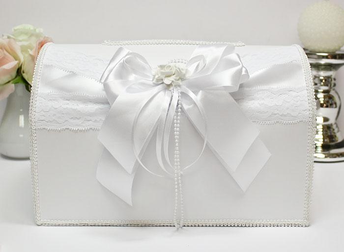 Свадебный сундучок Romantic (большой) (белый)