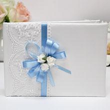 Книга пожеланий ручной работы Розанна (голубой)