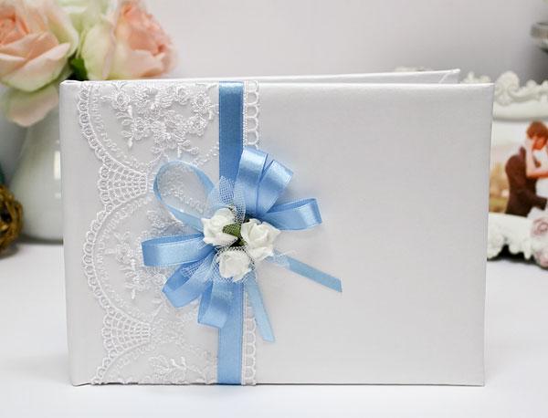 Книга пожеланий ручной работы Розанна (24 листа) (голубой)
