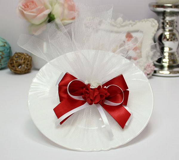 Декоративная тарелка для битья Romantic (бордо)