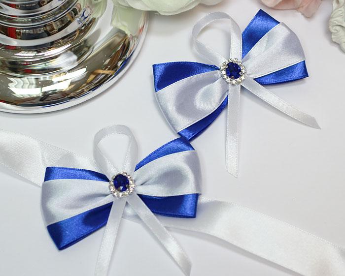 Комплект свадебных аксессуаров для свидетелей Афродита (2 шт) (синий)