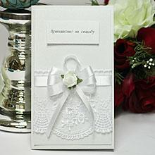 Свадебное приглашение Розанна (белый)