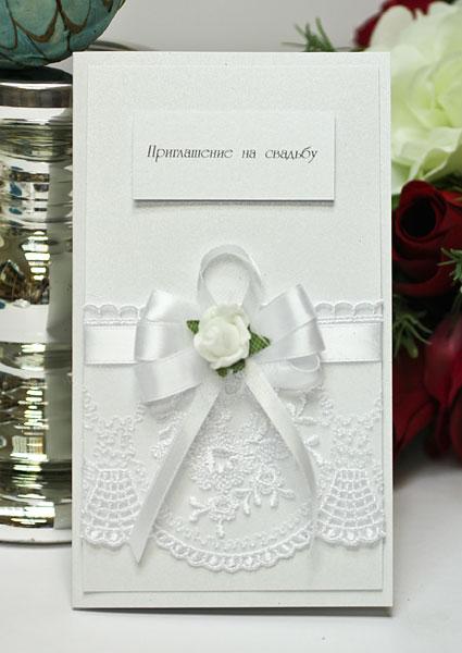 """Свадебное приглашение """"Розанна"""" (белый)"""