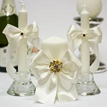 """Набор свадебных свечей """"Фрезия"""" (айвори)"""