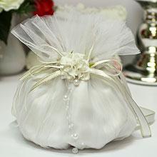 """Сумочка-мешочек для невесты """"Цветочная симфония"""""""