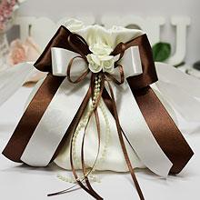 """Сумочка-мешочек для невесты """"Chocolate"""""""
