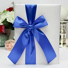 Свадебная папка о браке Paradise для свидетельства (старый формат) (синий)