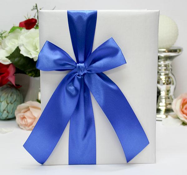 Свадебная папка о браке Paradise для свидетельства (формат А4) (синий)