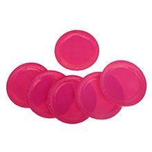 Набор бумажных тарелок (6 шт, 23 см, розовый)