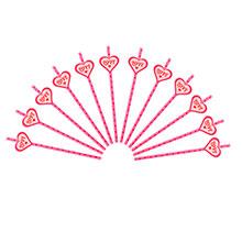 "Бумажные трубочки для коктейля ""Love"" (12 шт)"