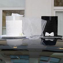 """АРЕНДА Комплекта свадебных украшений на машину """"Жених и невеста"""""""