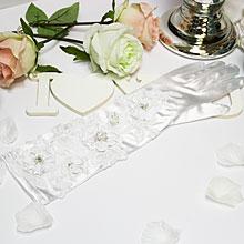 Свадебные митенки для невесты Rose (белый)