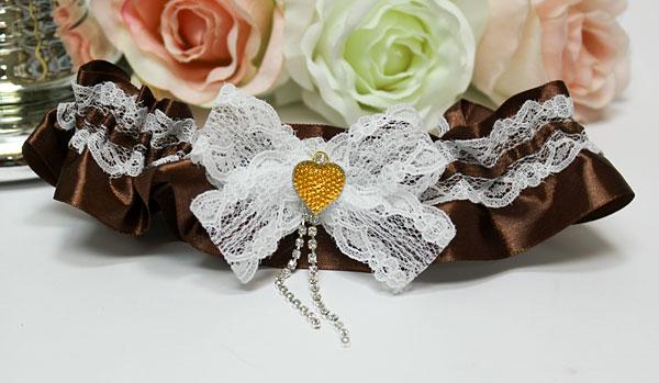 Подвязка для невесты Мармелад (шоколадный)
