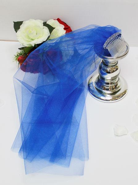 Фата для девичника (синяя)