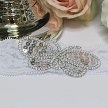 """Свадебная кружевная подвязка """"Butterfly"""""""