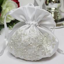 """Свадебная сумочка для невесты """"Сияние"""" (белый)"""