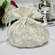 """Свадебная сумочка для невесты """"Сияние"""" (айвори)"""