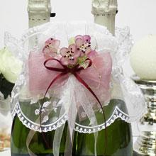 """Декор для шампанского """"Весенний мотив"""""""