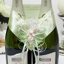 """Украшение для бутылок шампанского """"Яблоневый цвет"""""""