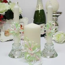 """Домашний очаг + 2 свечи """"Яблоневый цвет"""""""
