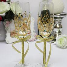 """Свадебные бокалы """"Золотая сказка"""""""