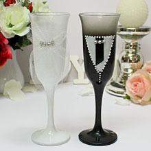 """Свадебные бокалы для молодоженов """"Новобрачные"""""""