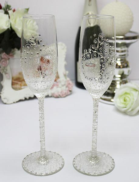 """Свадебные бокалы для молодоженов """"Нежность"""""""