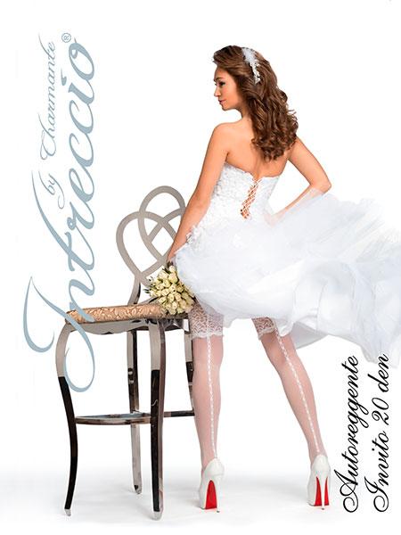 Свадебные чулки Charmante INVITO (белый, 20 den) (L/XL)